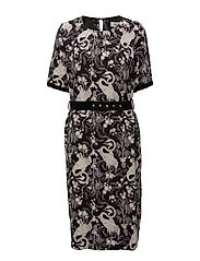 Dress short sleeve - PRINT BLACK