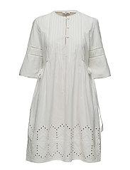 Dress long sleeve - CLOUD DANCER