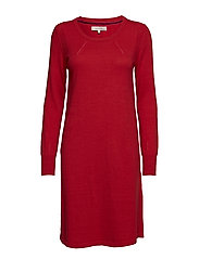 Dress long sleeve - POMPEIAN RED