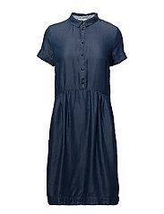 Dress short sleeve - DENIM DARK BLUE