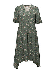Dress short sleeve - PRINT GREEN