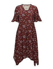 Dress short sleeve - PRINT RED