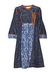 Dress long sleeve - PRINT BLUE