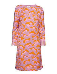 Dress long sleeve - PRINT PINK