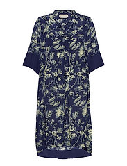 Dress short sleeve - PRINT BLUE