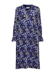 Dress long sleeve - PRINT BLUE
