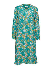 Dress long sleeve - PRINT GREEN