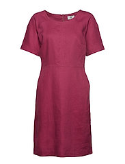 Dress short sleeve - RED VIOLET