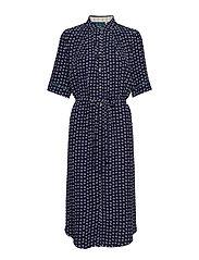 Dress short sleeve - PRINT BLUE