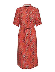 Dress short sleeve - PRINT RED