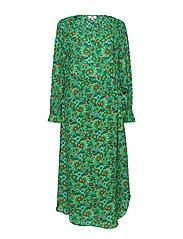 Dress long sleeve - PRINT GREEN