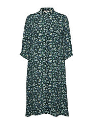 Dress short sleeve - PRINT GREEN