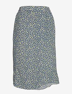 Skirt - jupes midi - print blue