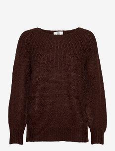 Pullover - truien - chocolate plum