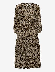 Dress long sleeve - maxi jurken - print yellow