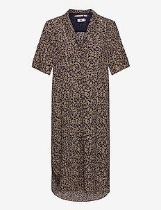 Dress short sleeve - midi jurken - print yellow