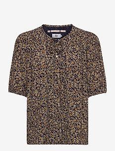 Blouse - blouses med korte mouwen - print yellow