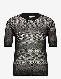 Pullover - blouses med korte mouwen - black