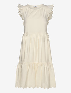 Dress sleeveless - WHITE ASPARAGUS