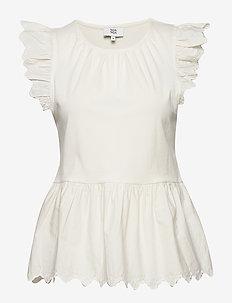 T-shirt - sleeveless blouses - white asparagus