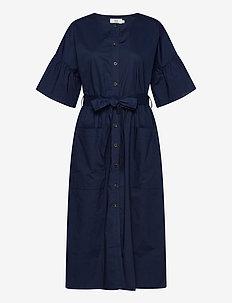Dress short sleeve - midi jurken - dress blues