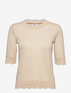 Pullover - strikkede toppe - light brown melange