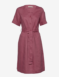 Dress short sleeve - robes midi - rose wine