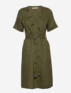 Dress short sleeve - midiklänningar - winter moss