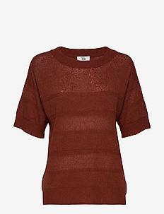 Pullover - knitted tops & t-shirts - mahogany