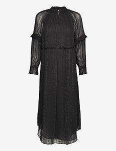 Dress long sleeve - midi kjoler - black