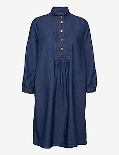 Dress long sleeve - shirt dresses - denim dark blue