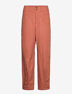 Trousers - wide leg trousers - copper brown