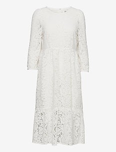Dress long sleeve - sommerkjoler - cloud dancer