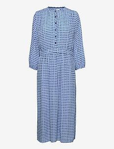 Dress long sleeve - maxikjoler - print blue