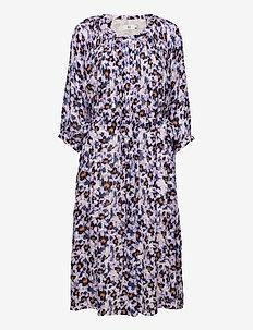 Dress long sleeve - zomerjurken - print lavender