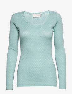 T-shirt - langærmede toppe - cameo blue