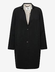 Light outerwear - lette frakker - black