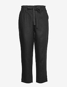 Trousers - rette bukser - black