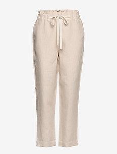 Trousers - broeken med straight ben - natural linen