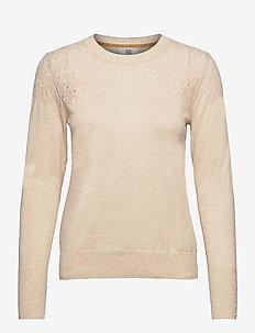 Pullover - truien - light brown melange