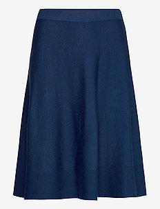 Skirt - jupes midi - navy peony