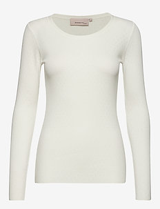 T-shirt - tops met lange mouwen - cloud dancer