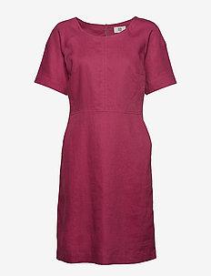 Dress short sleeve - RED VIOLET