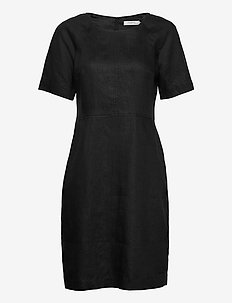 Dress short sleeve - korta klänningar - black