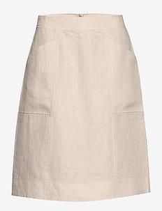 Skirt - midi kjolar - natural linen