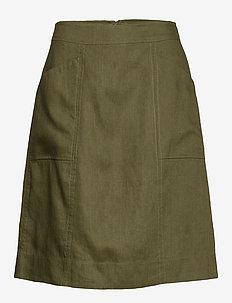 Skirt - midi kjolar - winter moss