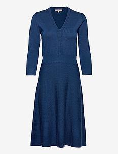 Dress long sleeve - midi dresses - navy peony