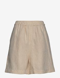 Shorts - casual korte broeken - natural linen