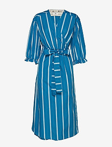 Dress long sleeve - wikkel jurken - art blue