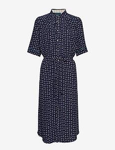 Dress short sleeve - skjortekjoler - print blue